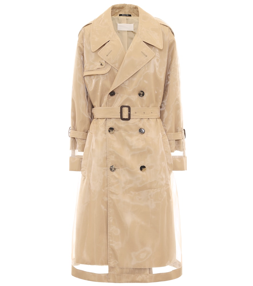 PVC-wrapped cotton trench coat