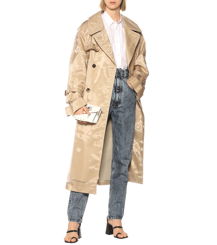 PVC-wrapped cotton trench coat by Maison Margiela