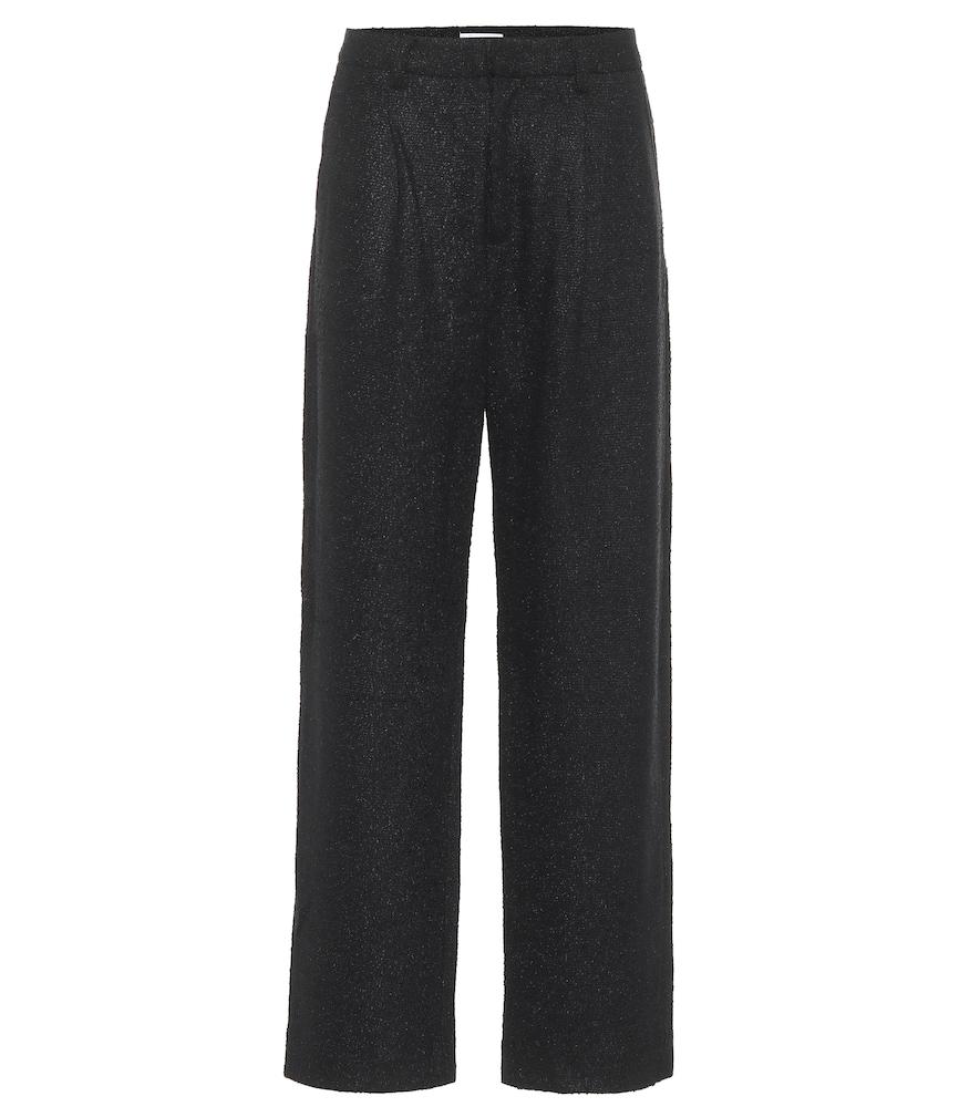 Nicola high-rise straight tweed pants