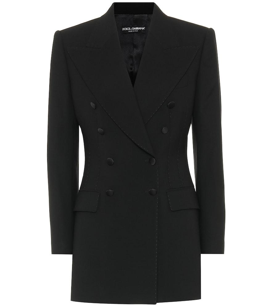 Dolce & Gabbana Stretch-wool Blazer In Black