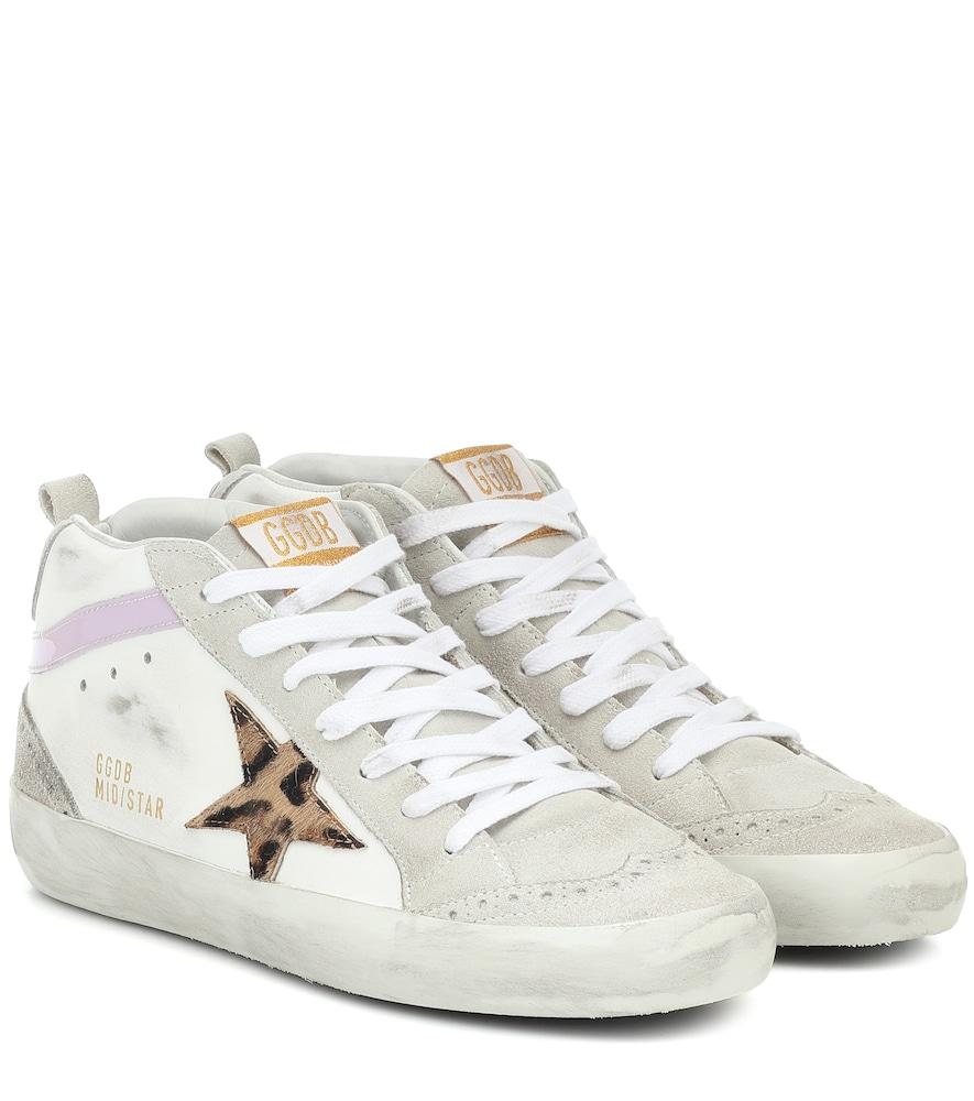 Mid Star leather and suede sneakers