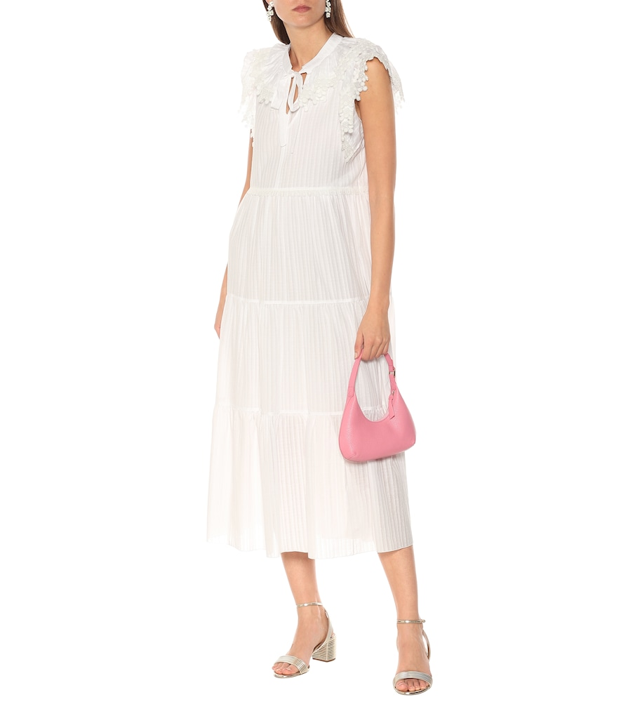 Cotton-voile midi dress by See By Chloé