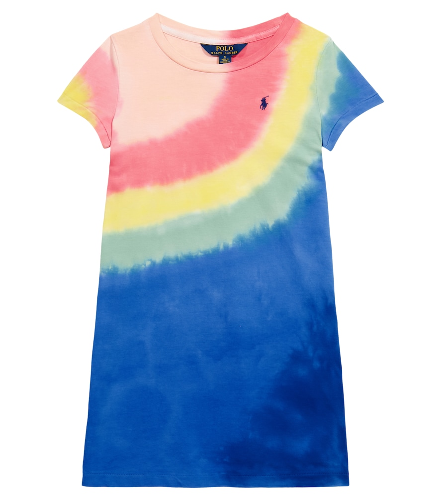 Polo Ralph Lauren Kids' Tie-dye Cotton Jersey Tee Dress In Multicoloured