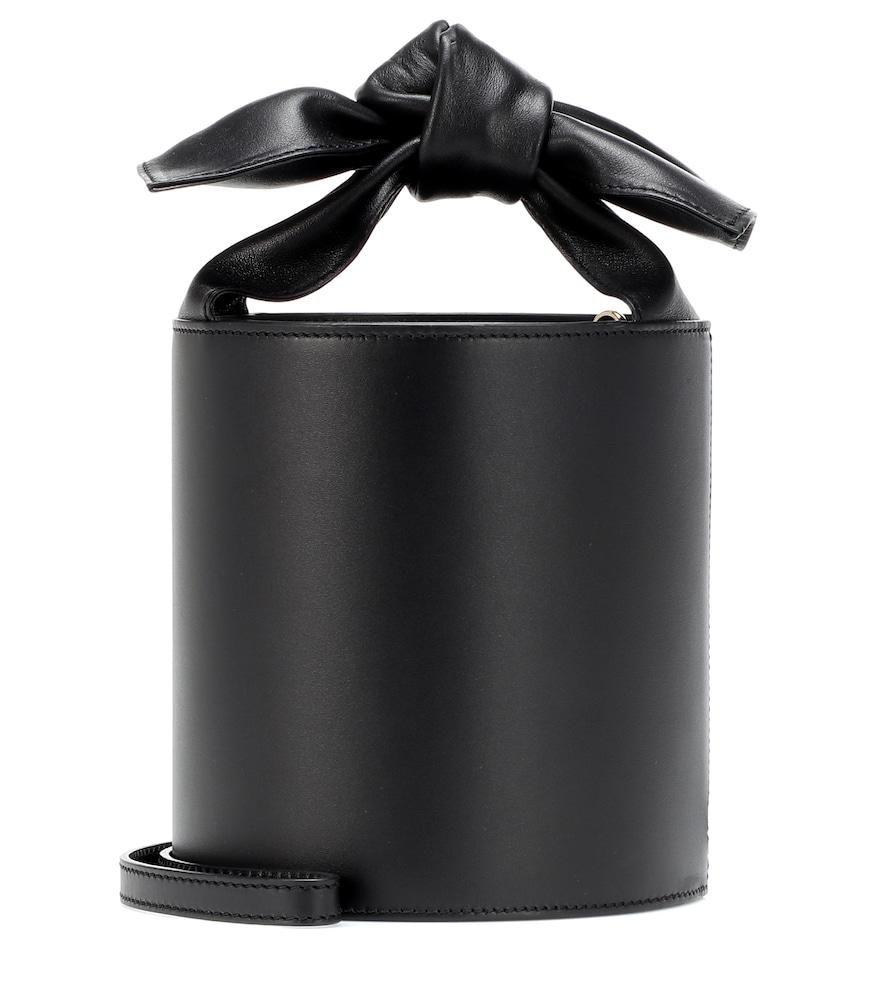 Sophie Mini Leather Bucket Bag, Female