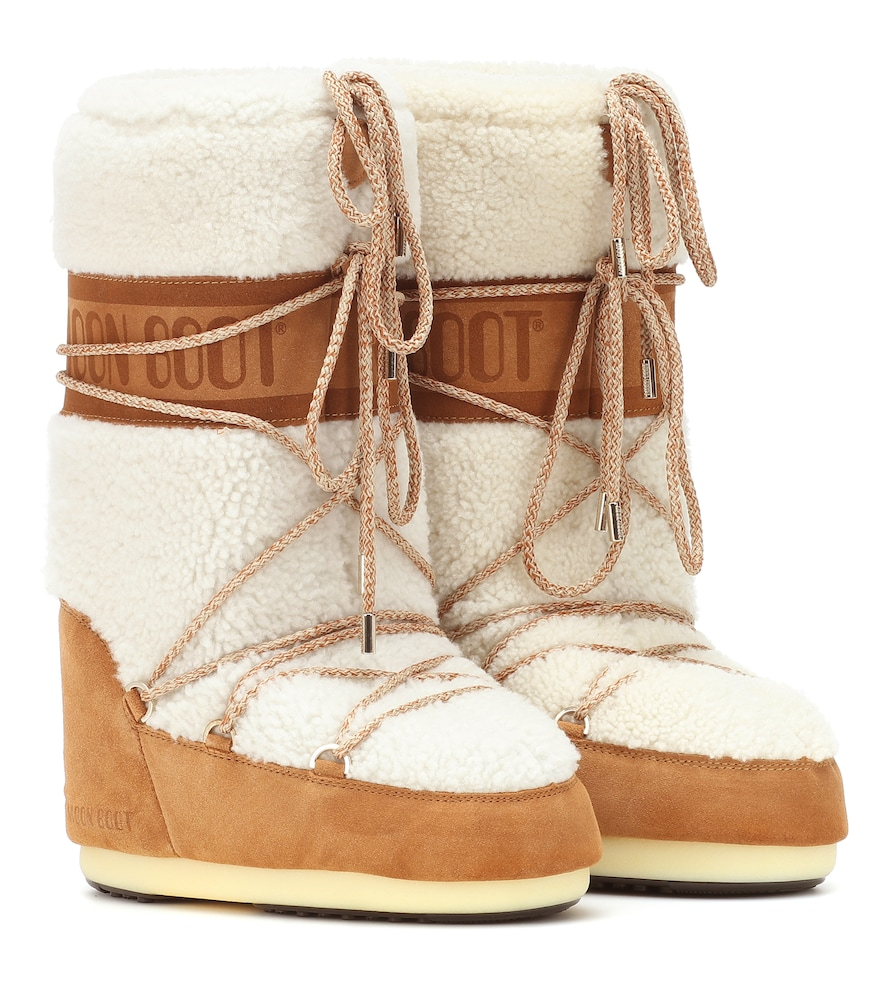 MOON BOOTS HEARLING & SUEDE BOOT