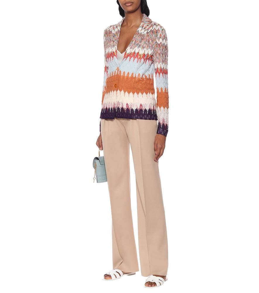 Chevron-knit cardigan by Missoni