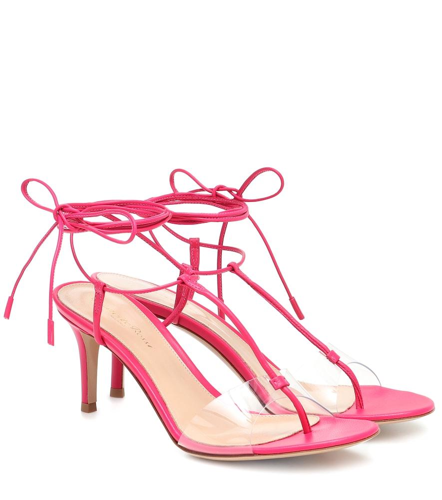 Gwyneth PVC and leather sandals