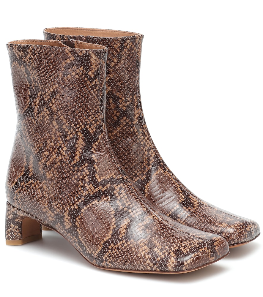 Monica snake-print leather boots