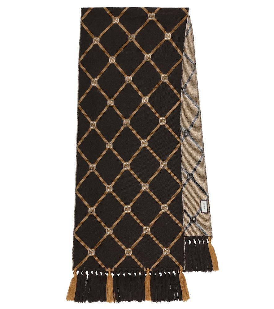 Écharpe en jacquard de laine à carreaux - Gucci - Modalova