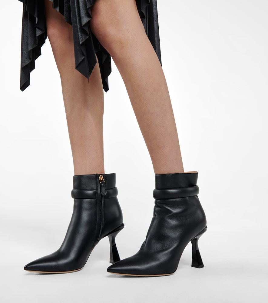 GIVENCHY Low heels CARÈNE LEATHER ANKLE BOOTS