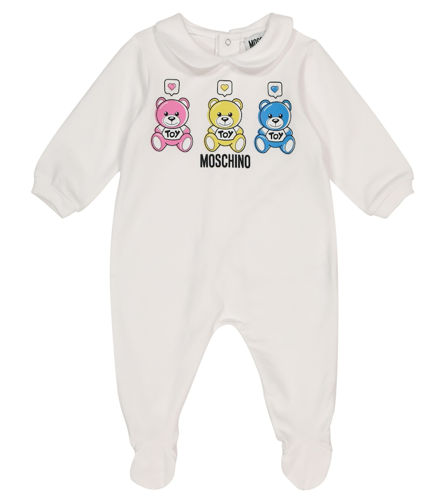 Moschino BABY LOGO STRETCH-COTTON ONESIE
