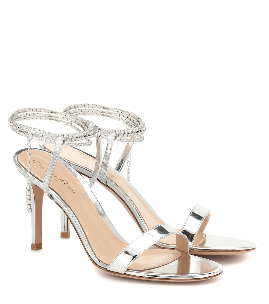 Serena 85 metallic leather sandals