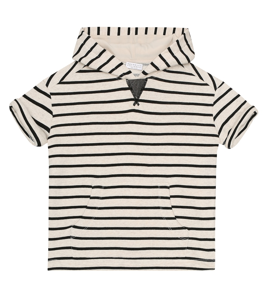Brunello Cucinelli EXCLUSIVE TO MYTHERESA - STRIPED COTTON HOODIE