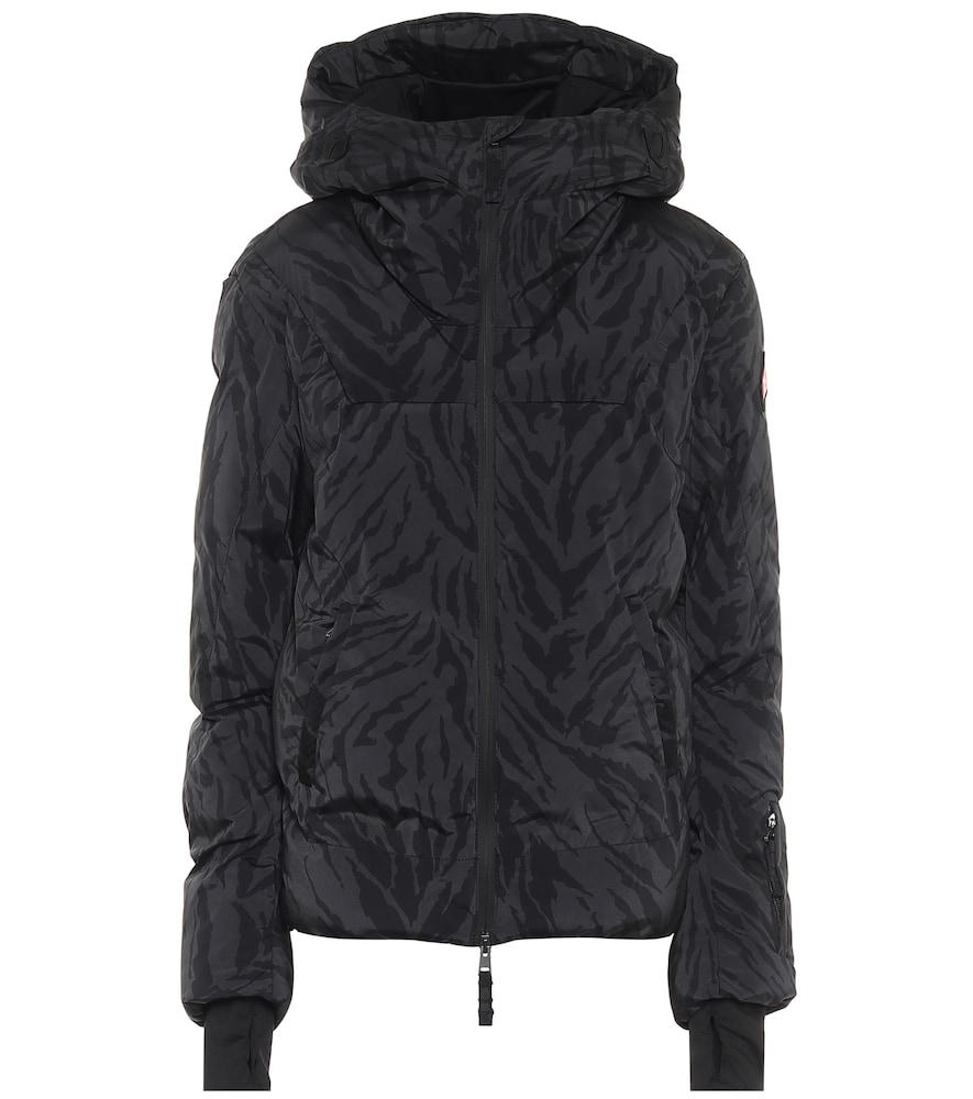 Julia tiger-print padded ski jacket
