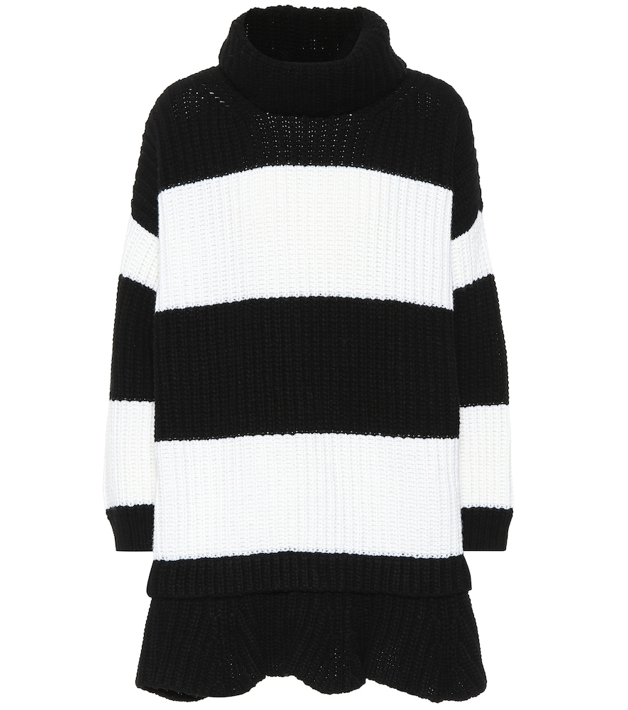 Striped Knit Oversized Sweater