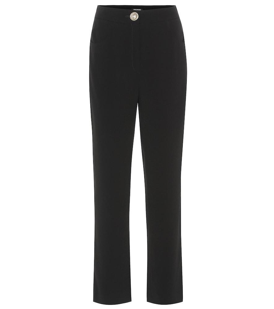 Pantalon droit en crêpe - Balmain - Modalova