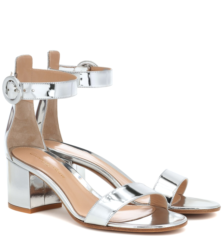 GIANVITO ROSSI | Versilia 60 Metallic Leather Sandals | Goxip