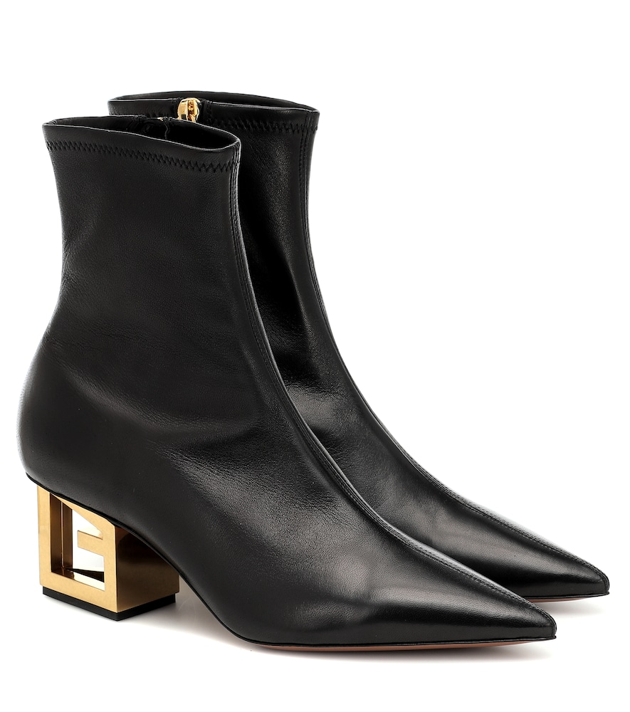Givenchy Leathers G HEEL LEATHER ANKLE BOOTS