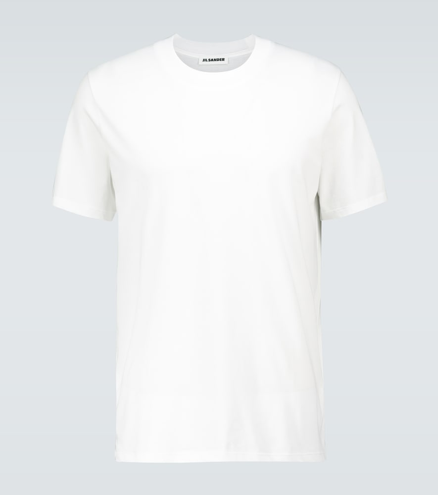 Jil Sander Short-sleeved Cotton T-shirt In White