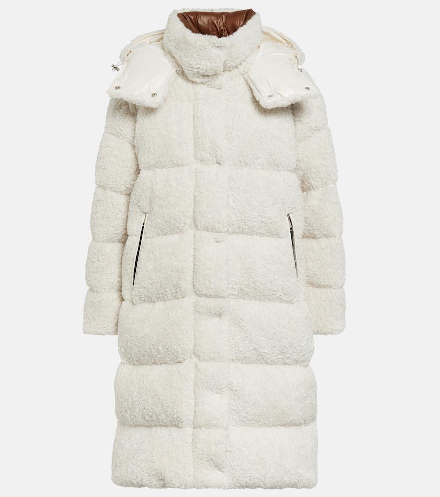 Hainardia faux fur down coat