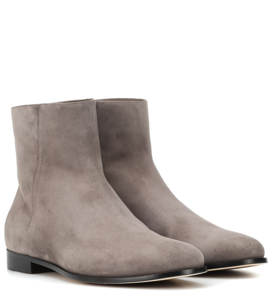 Duke Suede Ankle Boots in Grey