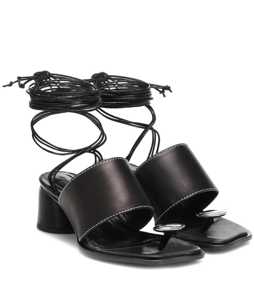 Sandales en cuir à ornements