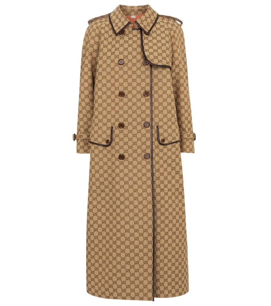Gucci GG COTTON-BLEND TRENCH COAT