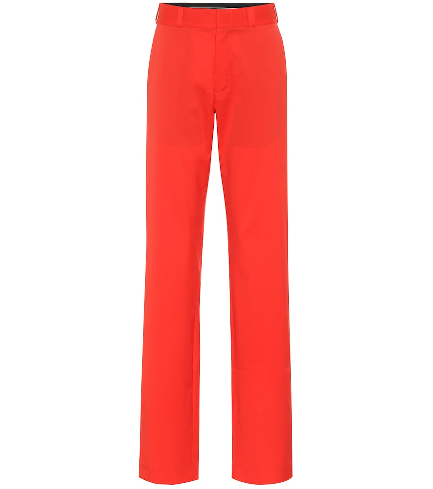 Pantalon droit en laine - Vetements - Modalova
