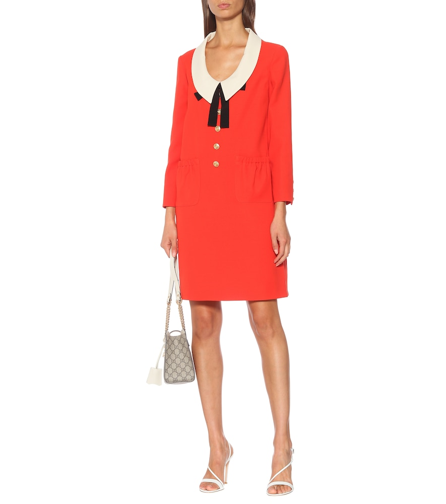 Silk and wool cady dress by Gucci