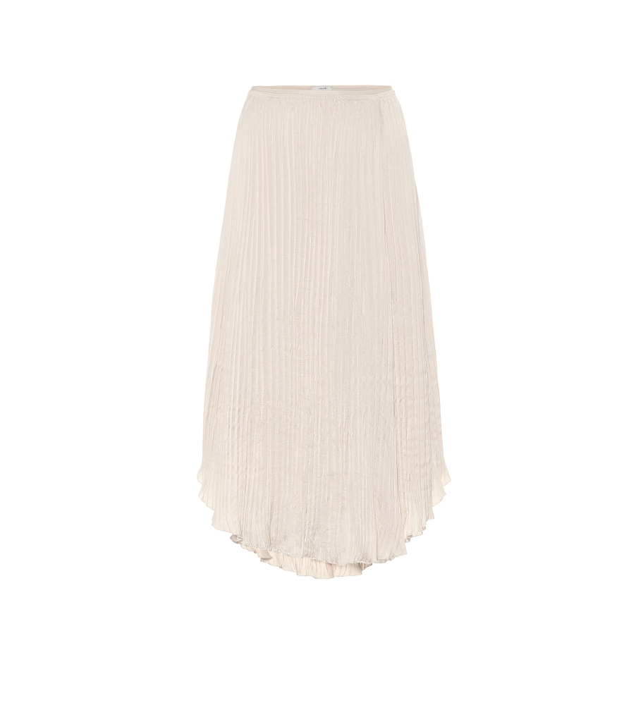 Vince Skirts CRUSHED SATIN MIDI SKIRT