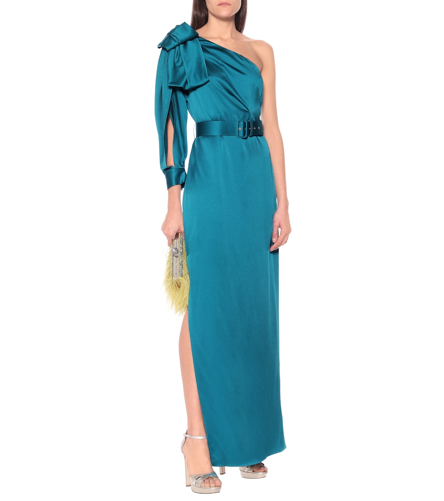 One-shoulder satin gown by Peter Pilotto