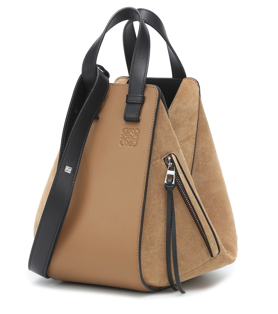 Hammock Small suede and leather shoulder bag