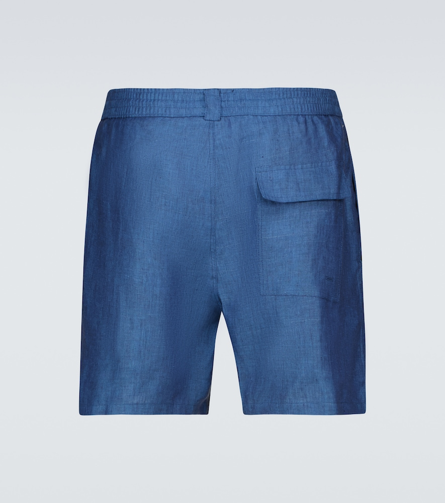 LORO PIANA Linens BAY SPRINT LINEN SHORTS