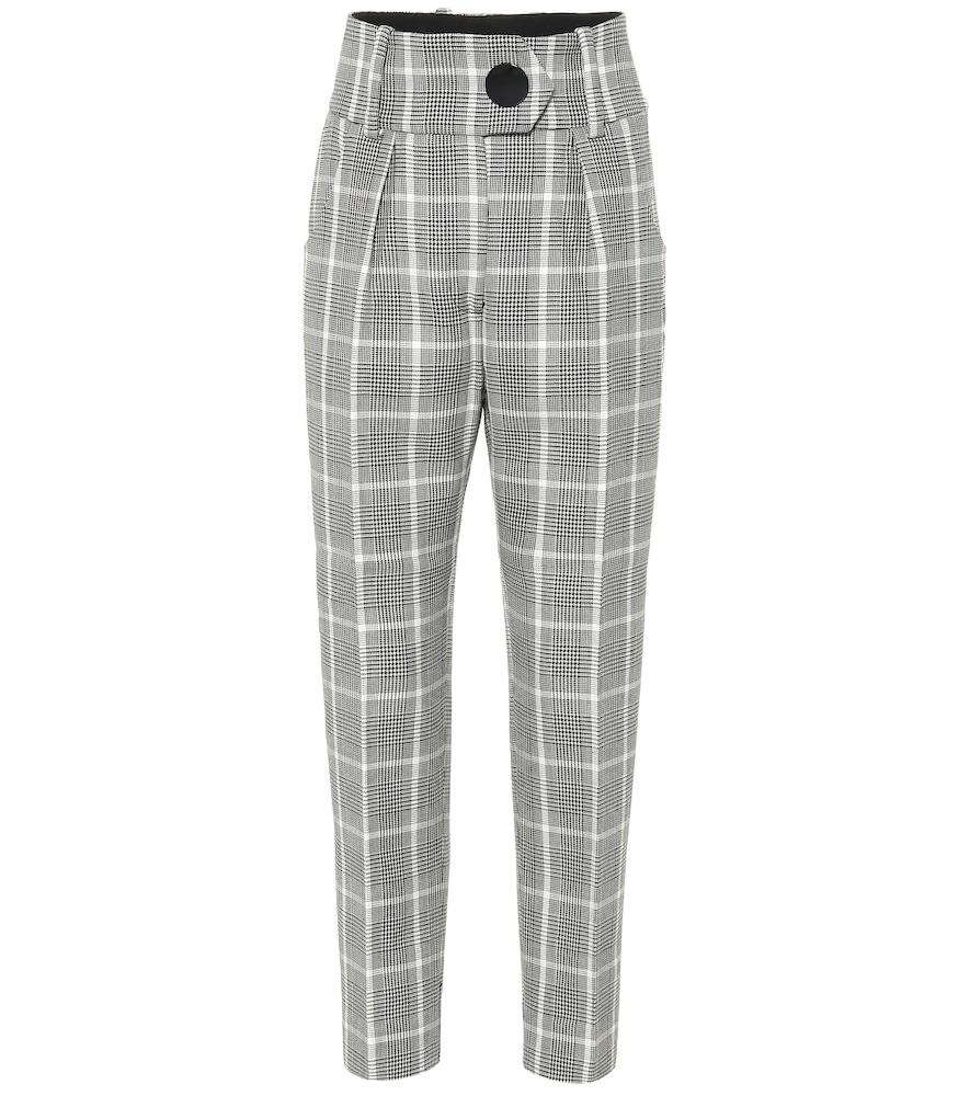 Hayden Wool Ankle Pants, Grey