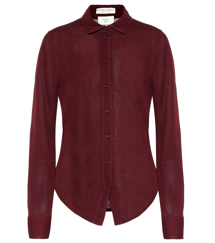 BOTTEGA VENETA | Sable Jersey Shirt | Goxip