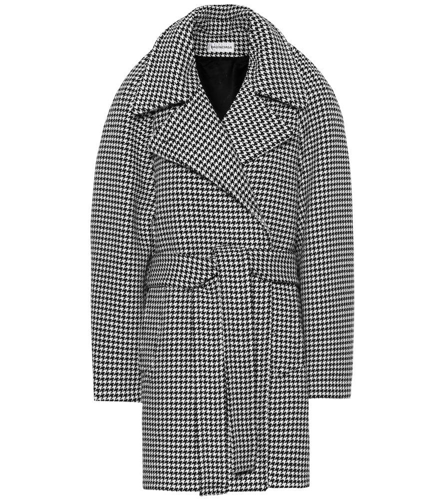 Houndstooth wool and cashmere coat by Balenciaga