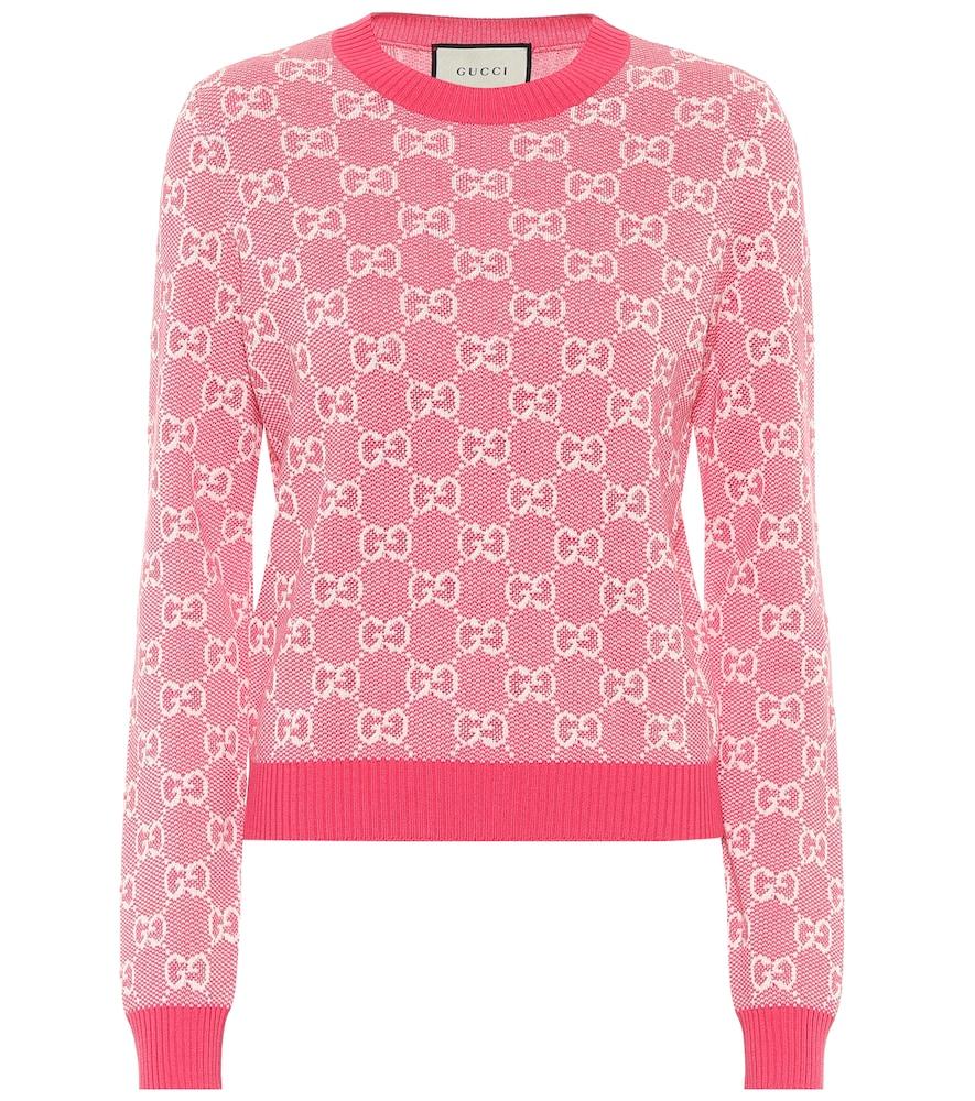 Pull en jacquard de coton et laine - Gucci - Modalova