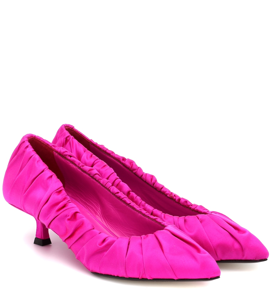 Khaite PALERMO SATIN PUMPS