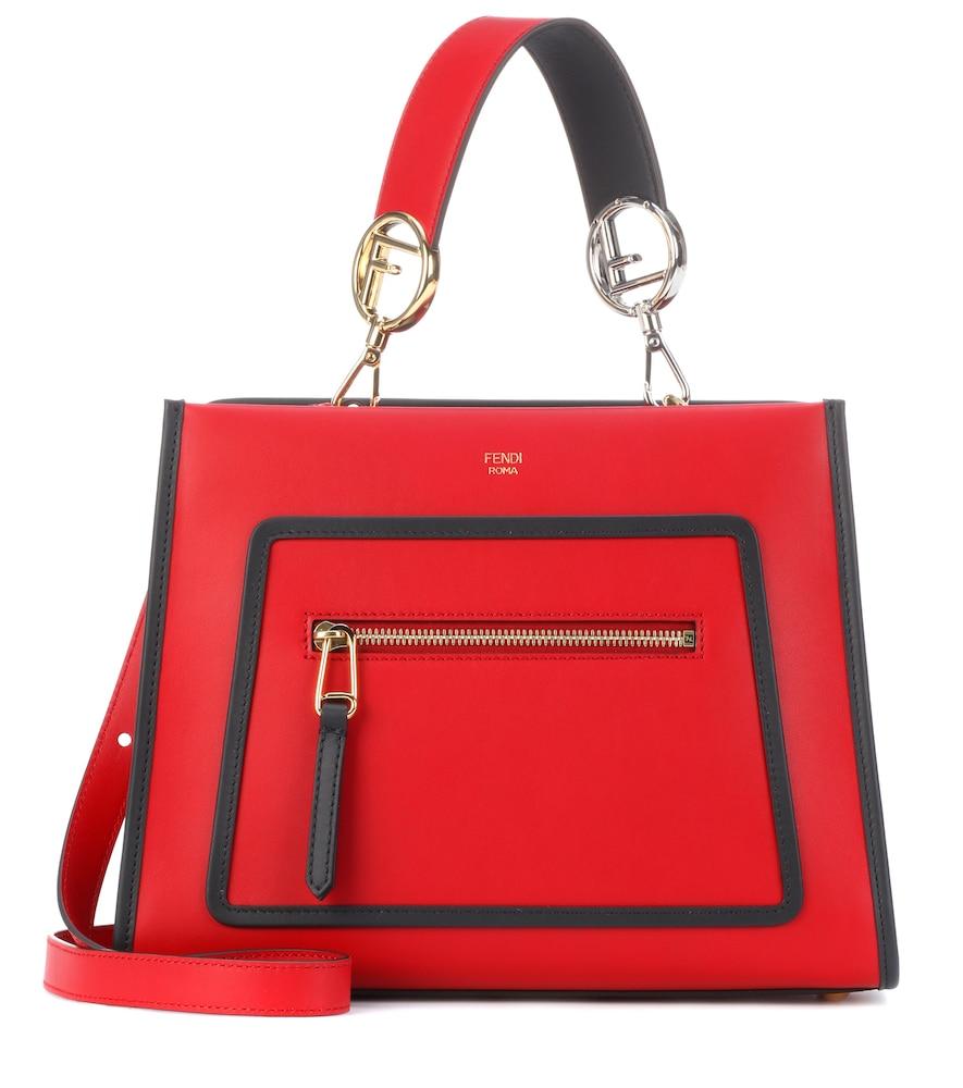 590fd758bc55 Fendi Small Runaway Calfskin Leather Satchel - Red In Claret