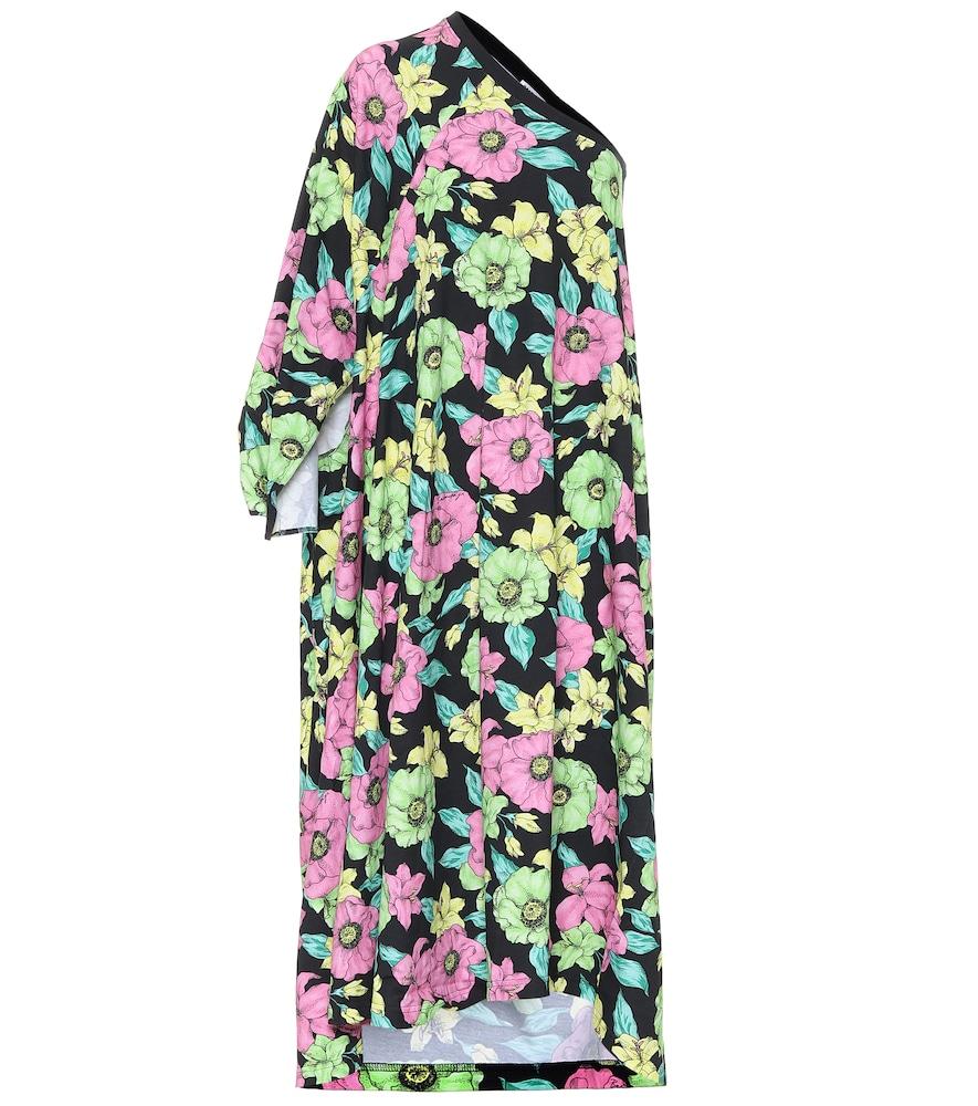 Robe midi imprimée en coton - Balenciaga - Modalova