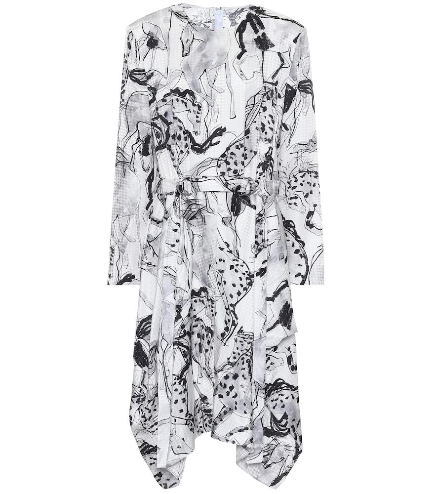 Kalyn printed silk midi dress by Stella McCartney