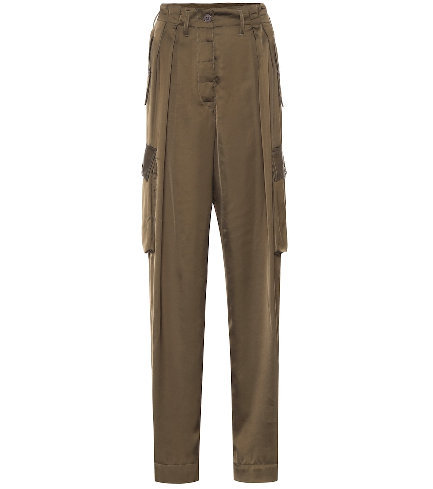 Pantalon en satin - Dries Van Noten - Modalova
