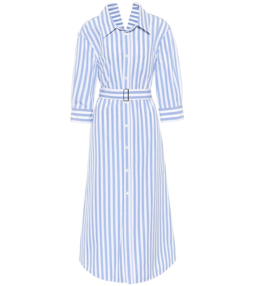 Robe chemise rayée en coton - Marni - Modalova
