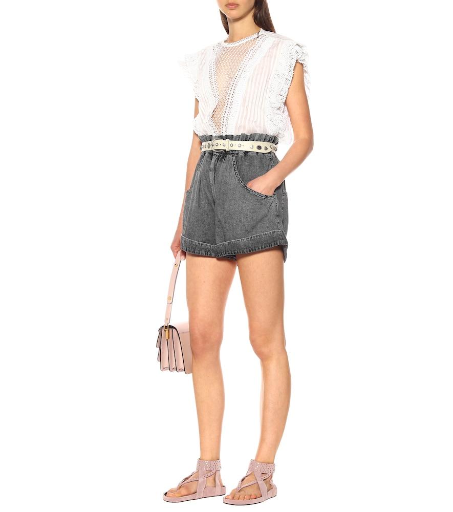 Ellan embellished suede sandals by Isabel Marant