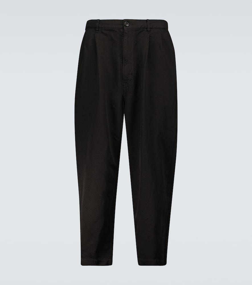 Garment-dyed casual pants