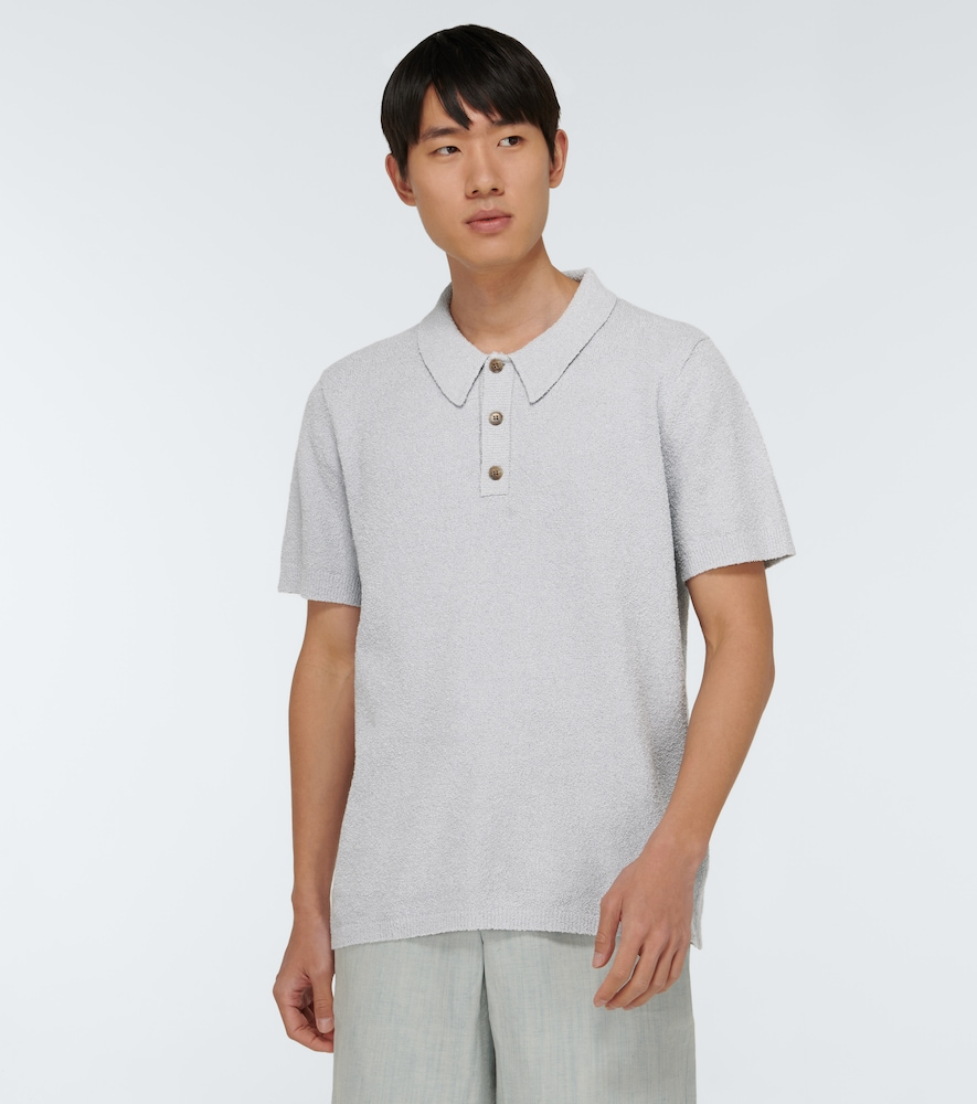 NANUSHKA Cottons MARUS KNITTED SHORT-SLEEVED POLO