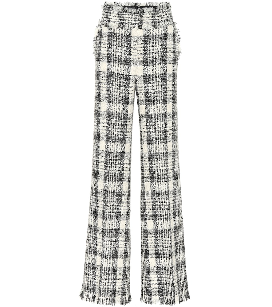 Tweed High-Waisted Pants in Neutrals