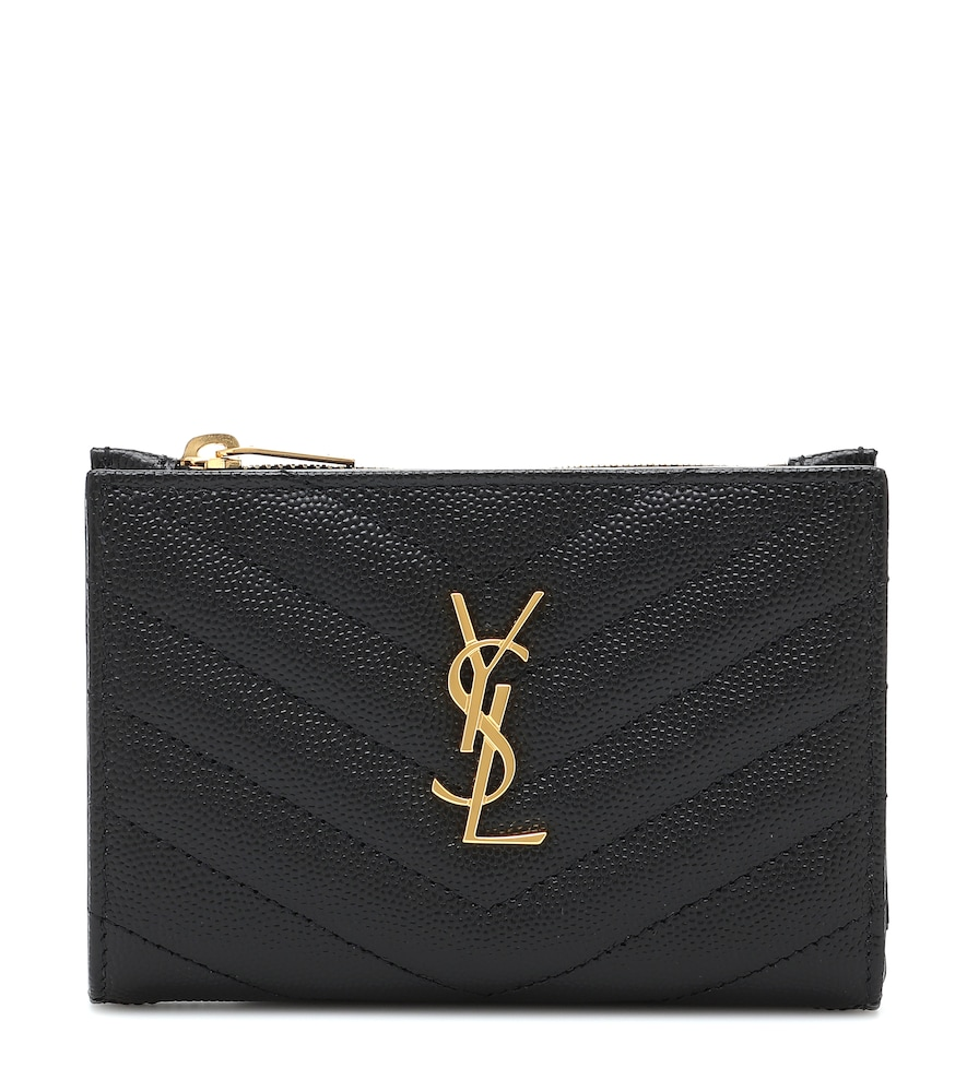 Monogram zipped leather wallet