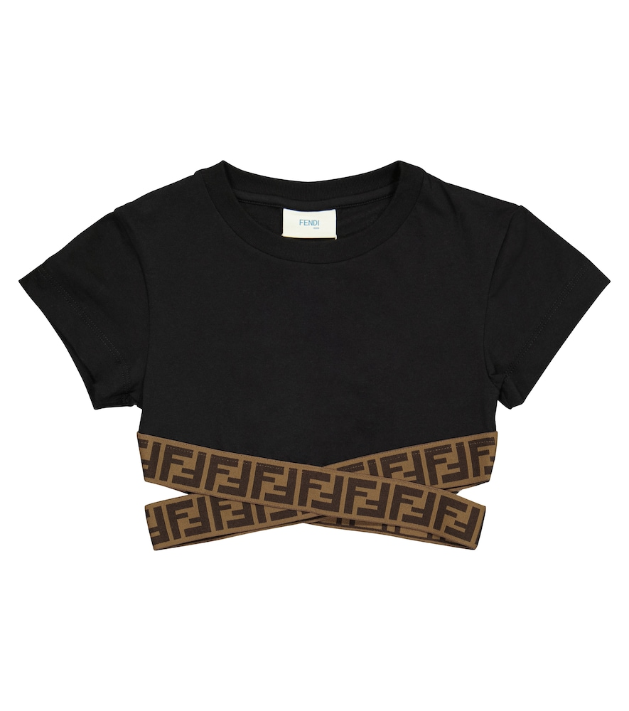 Fendi FF COTTON CROP TOP