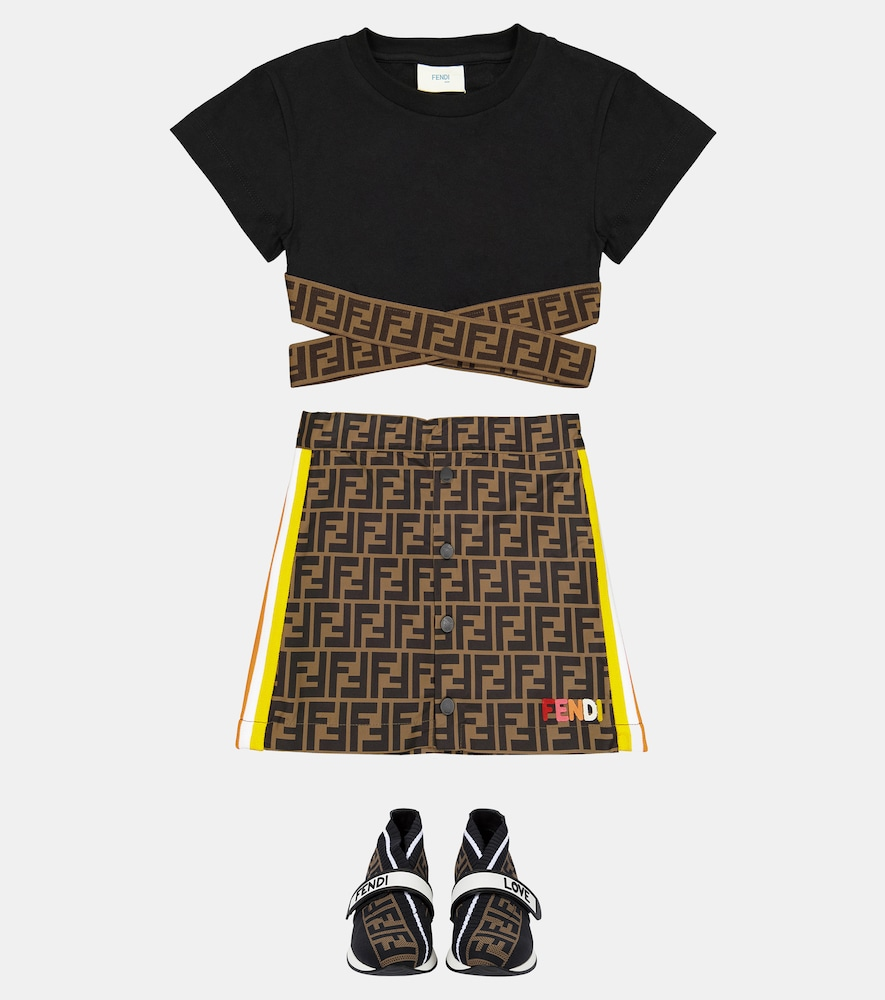 FENDI Cottons FF COTTON CROP TOP
